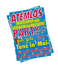 Nächstes Event: 2019-04-30 , Atemlos Party Tanz in' Mai